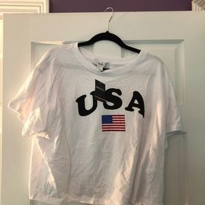 USA american flag crop top (forever 21)